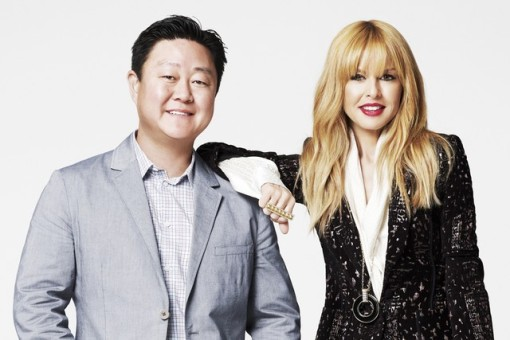 ShoeDazzle cofounder Brian Lee and Rachel Zoe